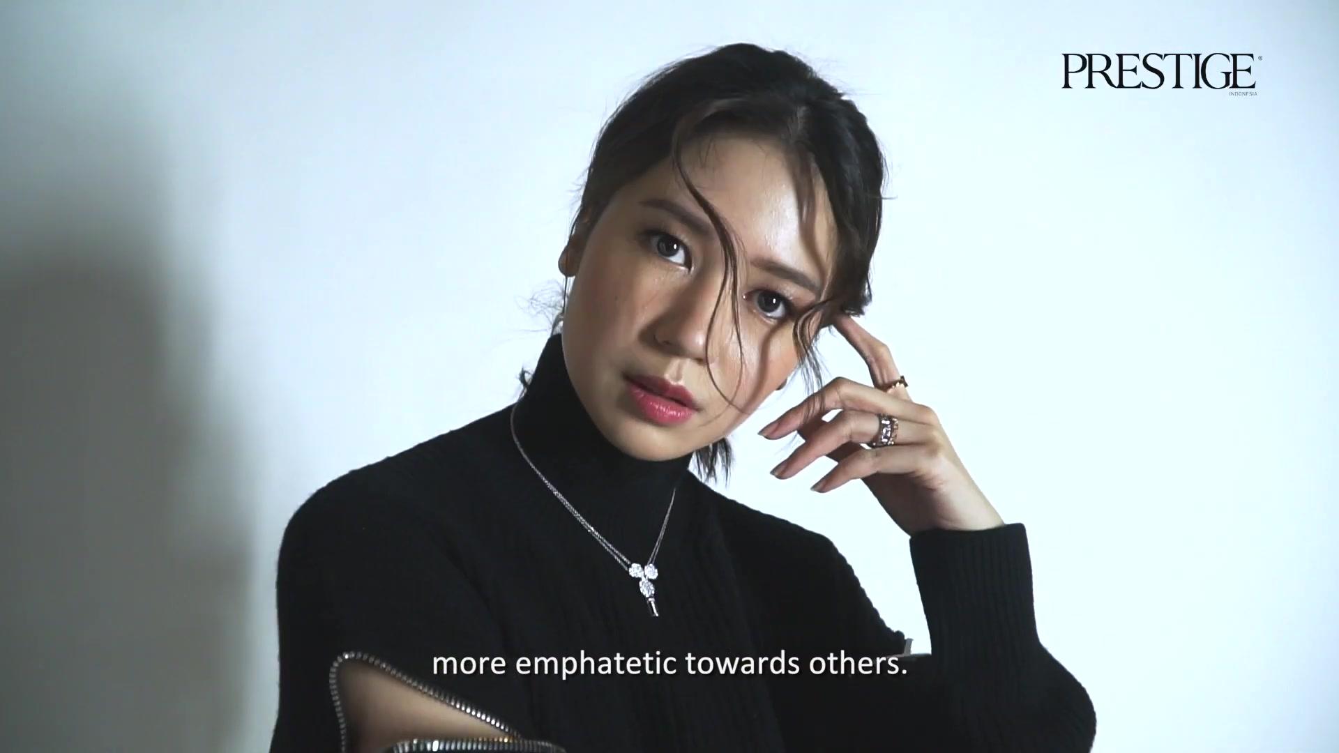 Celebrity Hairstyle Of Laura Basuki From Photoshoot Prestige Indonesia 2019 Charmboard